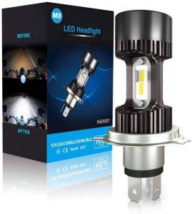 Bombilla LED H4 para faro de moto Car Rover